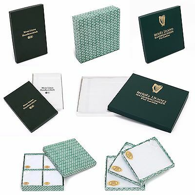 Ladies/Mens Irish Linen Handkerchiefs Various Packs Hankies Hanky Handkerchief