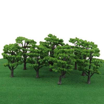10pcs Landscape Scenery Trees Model Train Wargame Diorama Layout OO HO N Scale