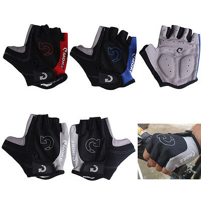 Bike Cycling Bicycle Motorcycle Gel Half Finger Gloves Size S-XL 3 Colors Sport
