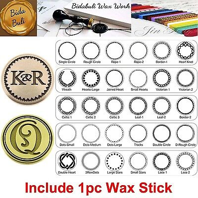 Custom Engraved Your Personalized Initials Invitation Wax Seal Stamp + 1pc Wax