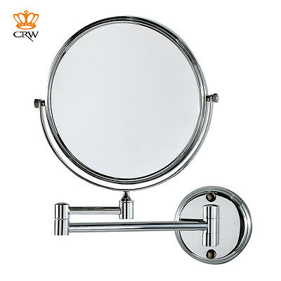 CRW Wall Mount Bathroom Double-Sided Make Up Cosmetic Shaving Magnifying Mirror