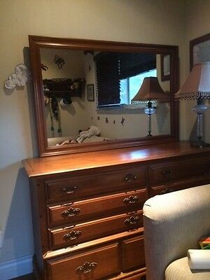 Pennsylvania House Antique Dresser with Large Mirror- Excellent Condition