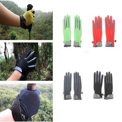 Mesh Breathable Telefingers Gloves Touch Screen Gel Pad Anti-slip Riding Mittens