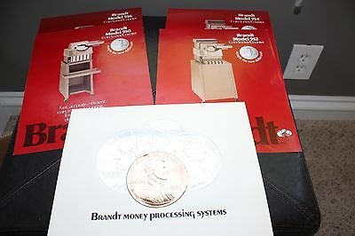 Vintage 1976 Brandt Systems Automatic,  Coin Sorter, Counter, Advertising Lot