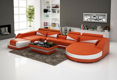 New European Customized Leather Sofa Couch Chair Design
