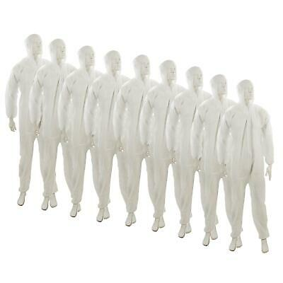 10 Disposable Paper Suit Protective Overall Coveralls XXL 146cm 58""