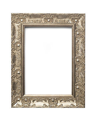 WIDE Ornate Shabby Chic Antique Swept Picture Frame Photo Frame SILVER / MUSE