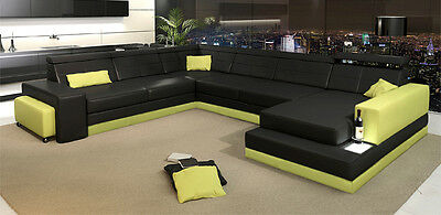 New European Living Room Customized Leather Sofa Couch Chair Design