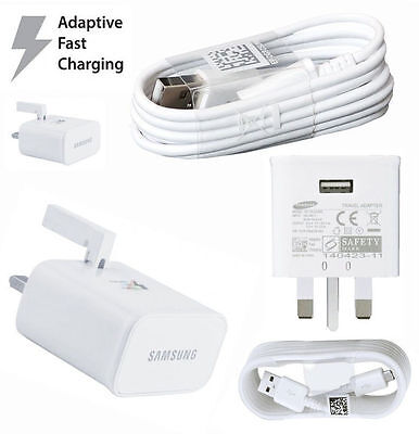 Wall Mains Adaptive Fast Charger Plug for Samsung Galaxy S6 S7Edge Plus Note 4 5