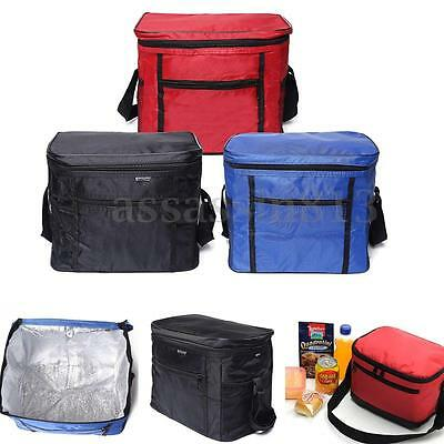 Thermal Outdoor Cooler Lunch Box Insulated Picnic Bag Camping Hiking Portable