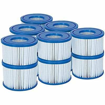 6xTwin Pack BESTWAY FILTER CARTRIDGE SIZE VI ITEM 58323 MODEL LAY-Z-SPA