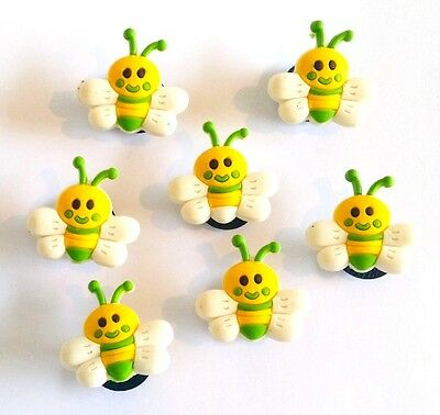 1 PINS CLIP ABEILLE FIT JIBBITZ SHOE CHARMS BEE POUR CROCS  2,3 cm