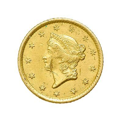 1852-O New Orleans Liberty Head Type 1 $1 Gold Coin, Small Circulated [2738.07]