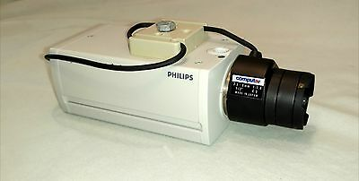 Philips Digital Color Security Camera LTC 0430/21 A With Lens and User Manual