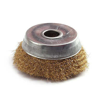 3 Inch Copper wire Crimped Polishing Wheel Brush For Grinder Rotary Tools 2Pcs