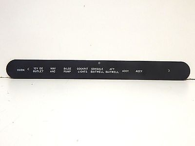 "Boston Whaler Switch Gauge Panel 19-1//2/"" length x 9/"" height"