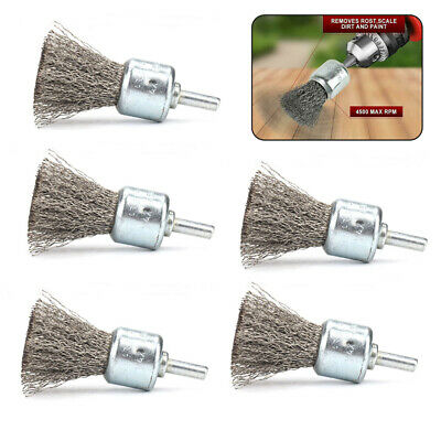 30mm Stainless Steel Wire Cup Brushes Wheel Cleaner For Rotary tool 5Pcs New