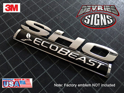 (2) NON-DOMED ECOBEAST emblem overlays ecoboost •!!FITS 2010+ TAURUS SHO ONLY!!•