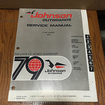 1979 johnson factory outboard motor owners manual 6 hp 14 95 rh picclick com J50 Whale Infinity J50