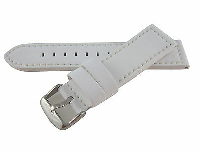 a7a79f4c981 20mm Hadley-Roma Men s Silicone Over Leather Watch Band Strap White MS740