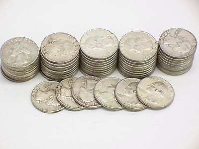 $14 Face Value 90% Silver US Silver Washington Quarters 56-Coins