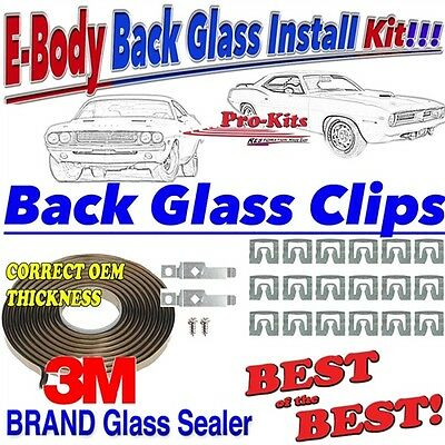 71 72 73 74 Cuda Challenger Rear Back Glass Window Sealer Gasket Tape Clip Kit