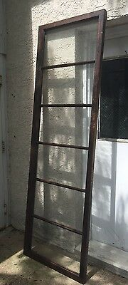 "Vtg Transom-China Cabinet Door-Side-French Doors 91"" X 28 1/4"" Solid EUC! L@@K!"