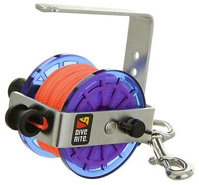 Dive Rite Cavern/Safety Reel 140ft #24 Line w/ Stainless Steel Bolt Snap Orange
