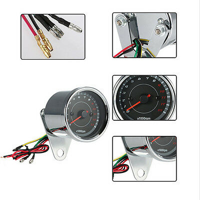 Universal Motorcycle Backlight LED 12V Tachometer Speedometer Tacho Gauge