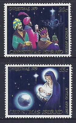 Christmas Island 1979 Christmas Fine Mint Set Of 2 Mnh/muh
