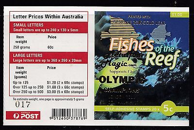 Australia 2010 Fishes of the Reef Phil Booklet ($1.00) O/PT - B455(21)