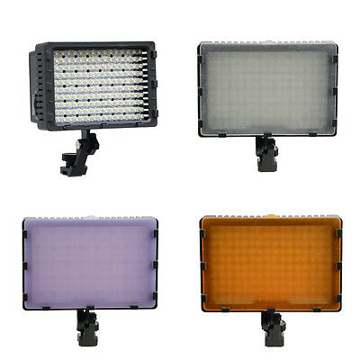 160 LED Photo Studio Video Light with Filters For Canon Nikon Camcorder Camera