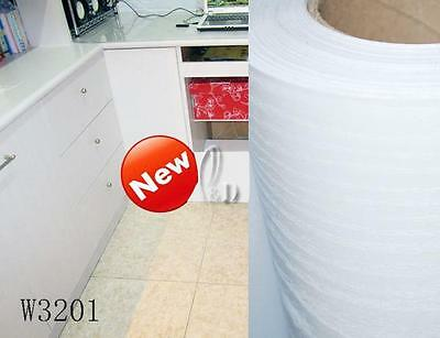 AU SELLER 45cmx10m Roll White Wood Vinyl Furniture Wall Paper Sticker W3201