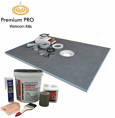 Wet Room Wetroom Shower Tray Kit with Instarmac Kit PRO Various Sizes