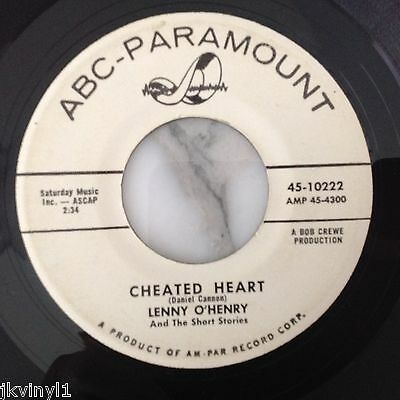 Lenny O'henry-Cheated Heart-Abc Promo 10222. Vg+