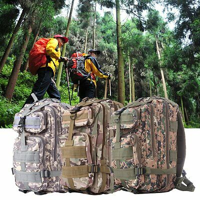 30L Hiking Camping Bag Army Military Tactical Trekking Rucksack Camo Backpack F7