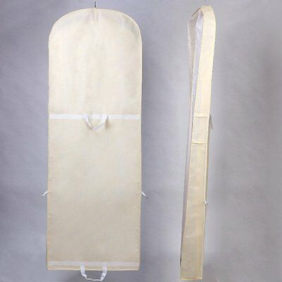 """Breathable Wedding Gown Dress Garment Clothes Cover Bag 70"""" Long Zip, for Weddin"""