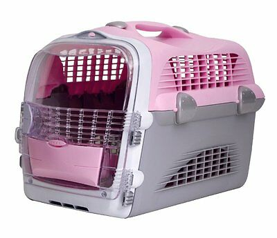 Catit Design Cat Cabrio Carrier Flight/ Airline Approved, Pink/ Grey/ White