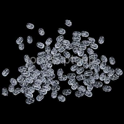 0.8mm Clear Oval Beads Fishing Rod Rig Beads Pack of 100