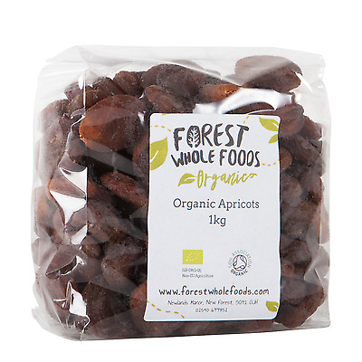 Forest Whole Foods - Organic Sun Dried Apricots  (Free UK Delivery) 1kg