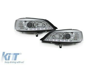 DAYLINE Phares Opel Astra G 98-04 DRL Optique Headlights Optic Chrome