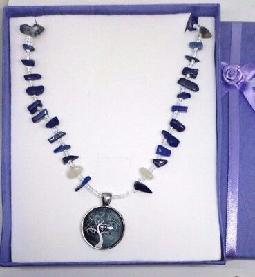 Lapis Lazuli Necklace contains blessed by John of God, Casa Crystal gems