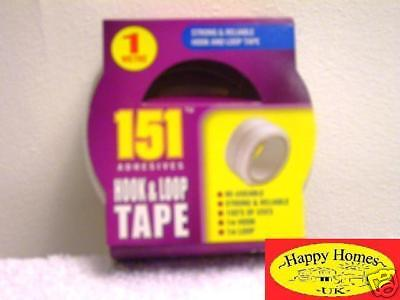 1 Roll Hook & Loop  Velcro White Tape - 20mm x 1m