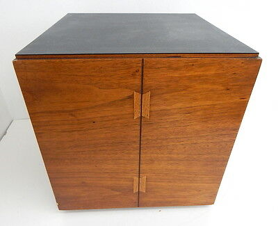 Vintage Danish Modern Mid Century Architectural Cube Table By Lane