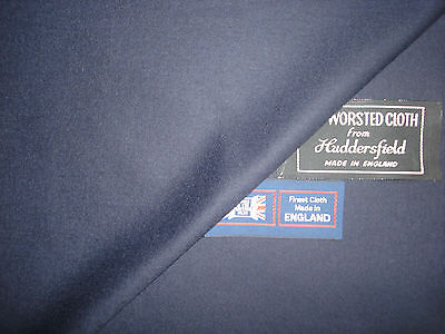 100% SUPER 120's WOOL WORSTED FLANNEL SUITING FABRIC MADE IN ENGLAND-2.3+1.58 m