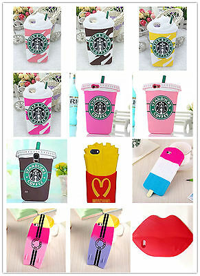 3D Starbucks frappuccino phone coque silicone Apple samsung iPhone 4s 5S 5C 6s +