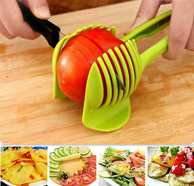 Tomato Potato Cutter Tool Slicer Clip Holder Fruit Hot Lemon Kitchen Vegetable