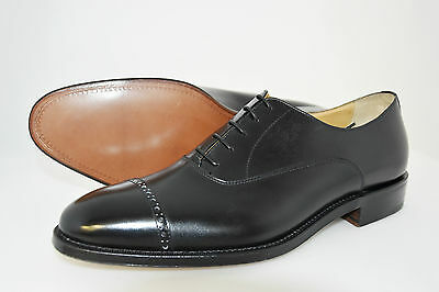 MAN-8eu-9usa-OXFORD CAPTOE-FRANCESINA-BLACK CALF-VITELLO-LTHR SOLE-SUOLA CUOIO