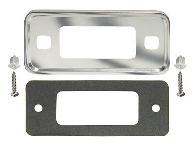 New 1970-77 Bronco Bezel Marker Light Front Plate LH RH Lamp Ranger Sport Ford