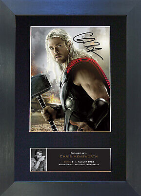 THOR Chris Hemsworth Signed Mounted Autograph Photo Prints A4 586